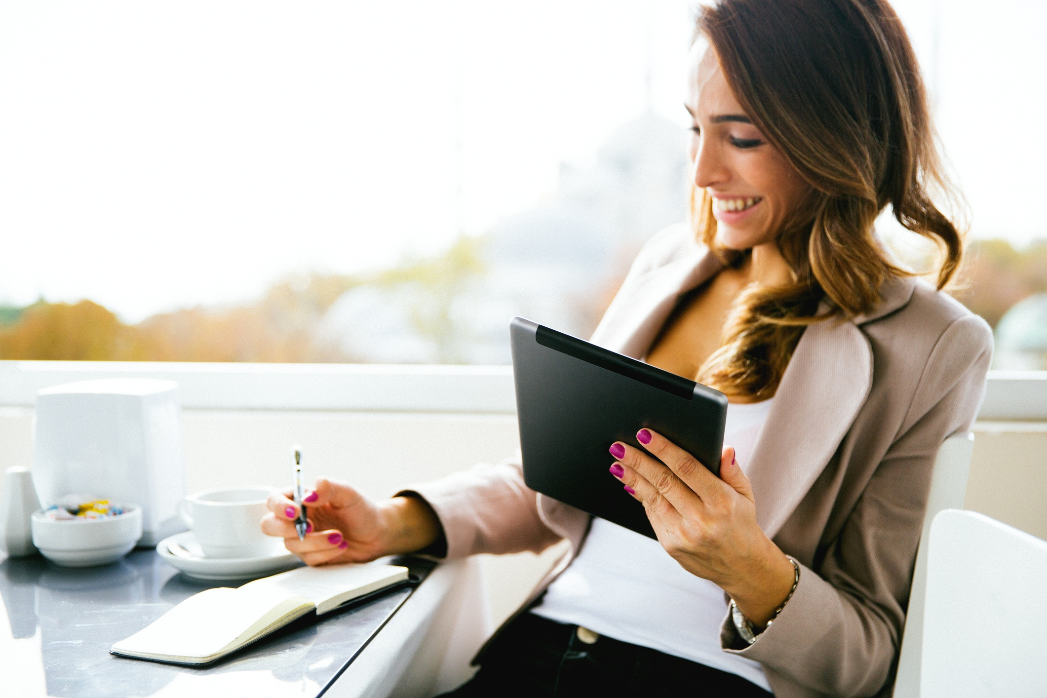 Woman Checking Business Account