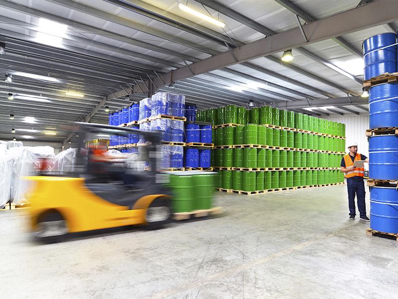 Man using Warehouse Equipment